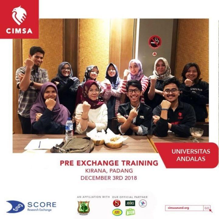Pre-Exchange Training (PET) by CIMSA UNAND